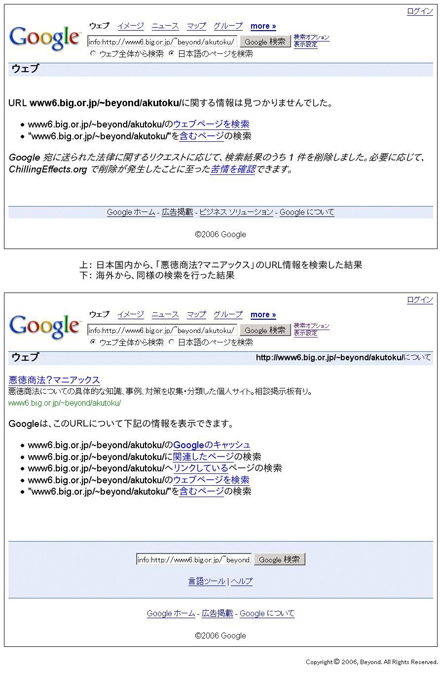 悪徳商法?支店]: Google八分比...
